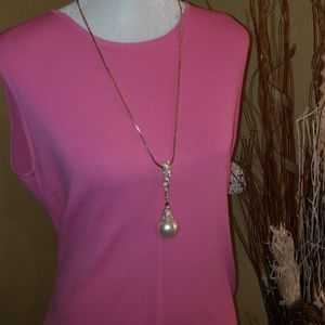 Jules B. Necklace w/ Pearl and Bling
